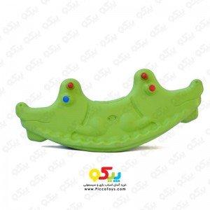 الاکلنگ تعادلی دو نفره مدل تمساح رنگ فسفری  کد 5087