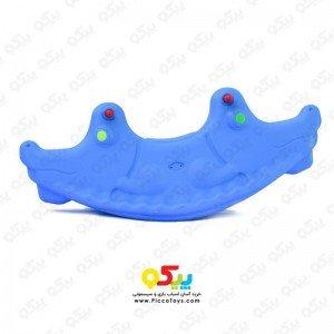 الاکلنگ تعادلی دو نفره کودک مدل تمساح رنگ آبی  کد 5087