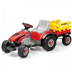 تراکتور پدالی کودک با تریلر زرد mini toni tiger peg perego 0529