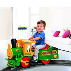 قطار شارژی با ریل اضافه  Santa Fe Train  peg perego 10710