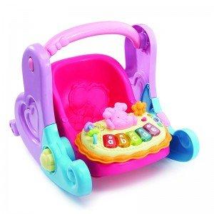 کریر موزیکال عروسک وی تک little love 4 in 1 baby basket 179403 vtech