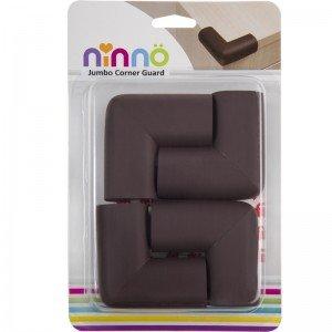 محافظ گوشه جامبو قهوه ای کوچک (4عددی) ninno 02