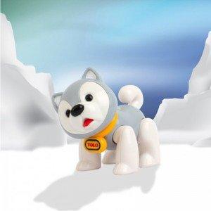 عروسک سگ اسکیمو طوسی نشکن   tolo 87419