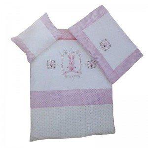 سرویس خواب 3تکه kidboo طرح rabitto pink