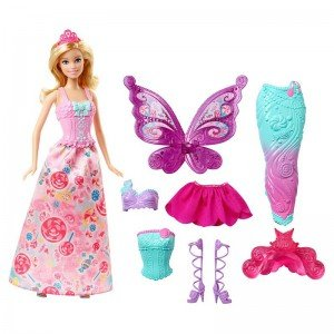 عروسک با لباس barbie dhc39
