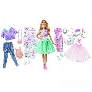 عروسک باربی با لباس و کفش barbie dvj64