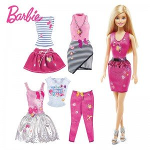 عروسک با لباس و کفش barbie dky29