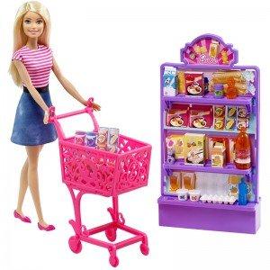 عروسک باربی و سوپر مارکت