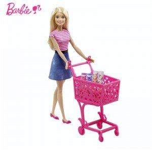 عروسک باربی با سبد خرید
