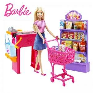 عروسک باربی در سوپر مارکت