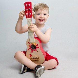 گیتار قرمز چوبی classic world کد 4015
