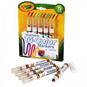 ماژیک 5 عددی قابل شستشو 8177 crayola Washable Tri Color Markers