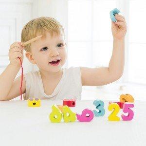 نخ و مهره اعداد چوبی