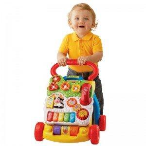 ماشين واکر با پنل اسباب بازی وی تک  First Steps Baby Walker 61763 VTech