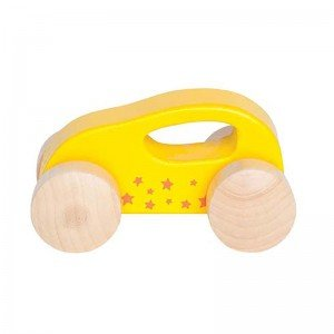 ماشین چوبی کوچک رنگ زرد little auto hape 0057