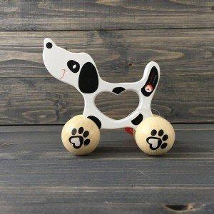 اسباب بازی چوبی چرخدار سگ classic world مدل 3062