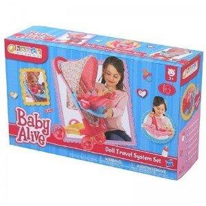 ست كالسكه و کریر عروسک  baby alive hauck 98190