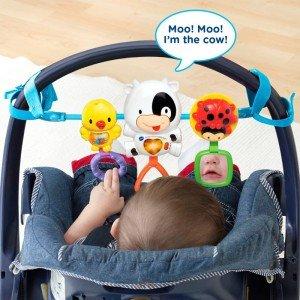 بازی و تفریح کودک با آویز کریر موزیکال وی تک