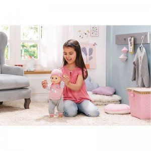 عروسک 43 سانتی بی بی آنابل Learns To Walk Doll baby born 700136
