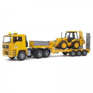 کامیون حمل لودر مان  Loader Truck With JCB  bruder 2776
