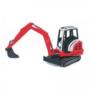 بیل مکانیکی برف روب قرمز Minibagger bruder 02432