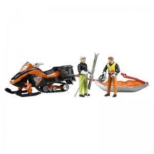 اسنو موبیل Snowmobile with Driver and Rescue Sled bruder 63100