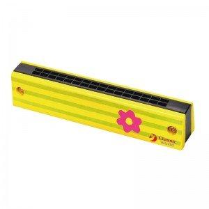 ساز دهنی فرشته چوبی زرد Classic World مدل Princess Harmonica 2622