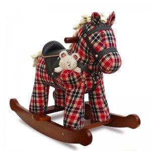 راکر اسب کودک چوبی طرح وینستون با عروسک  3070 little bird Winston & Red Rocking Horse