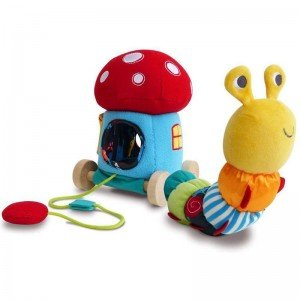 کاترپیلار نخ کش Toadstool Activity Pull Along little bird 3066