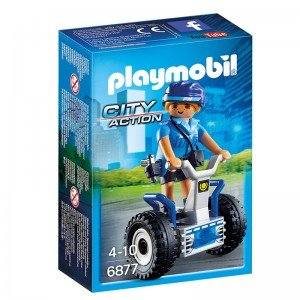 پلی موبيل مدل Policewoman with Balance Racer playmobil 6877