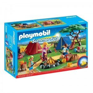 پلی موبيل مدل   Camp Site With LED Fire playmobil 6888