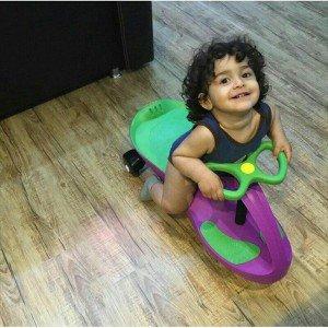 بازی و تفریح با سه چرخه پلاسماکار کودک رنگ بنفش سبز چمنی کد k04