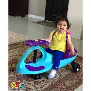شادی و سرگرمی سه چرخه پلاسماکار کودک رنگ بنفش سبز چمنی کد k04