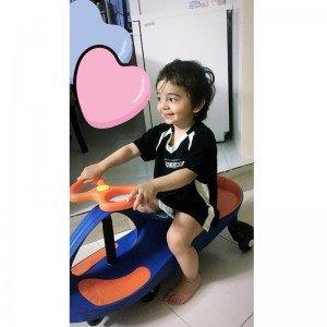 شادی و تفریح سه چرخه پلاسماکار کودک رنگ قرمز مشکی کد k01
