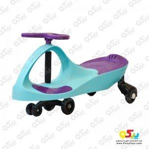 طراحی جذاب سه چرخه پلاسماکار کودک رنگ آبی فیروزه ای بنفش کد k06