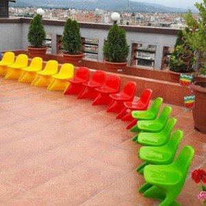 فروش مجموعه رنگی صندلی کودک رامو زرد PIC-7001