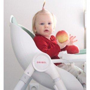 صندلی غذا oribel cocoon رنگ پسته ای