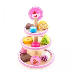 ظرف شیرینی چوبی سه طبقه TREFL-Wooden Toy -PYCHOTKI AT DOROTKA 60655