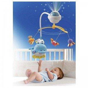 آویز تخت و چراغ خواب وی تک  Ocean Sounds Mobile vtech 136003