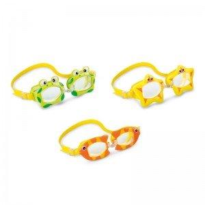عینک شنا قورباغه سبز intex 55603