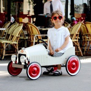 فروش ماشین پدالی فلزی سفید