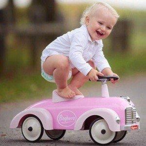 بازی و سرگرمی با ماشین پائی فلزی Speedster pink baghera 882