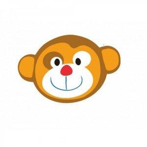 دیوارکوب چوبی هوش و موسیقی میمون