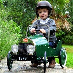 ماشین پدالی فلزی classic pedal car green baghera 1939