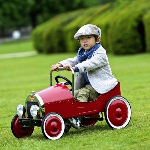 ماشین پدالی فلزی classic pedal car red baghera 1938
