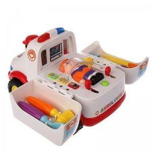 ماشین آمبولانس موزیکال holi toys 836