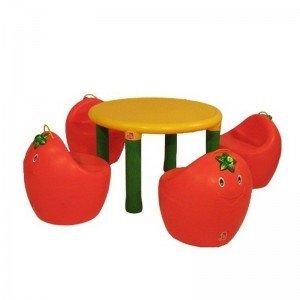 صندلی کودک پرتقالی رنگ قرمز 7021