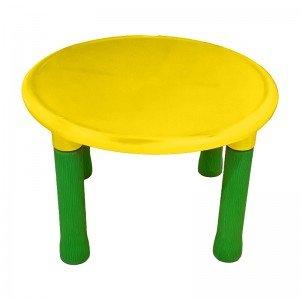 میز گرد پرتقالی کودک رنگ زرد 7022