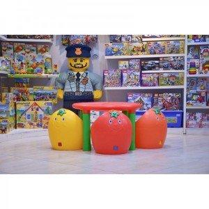 فروش میز گرد پرتقالی کودک 7022