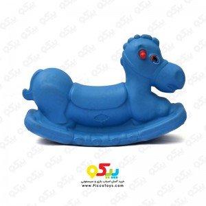 الاکلنگ تعادلی اسب یک نفره  رنگ آبی کد 5083